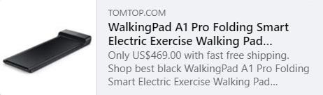 Xiaomi WalkingPad A1 Pro Dobrável Smart Electric Exercise Walking Pad Esteira Código da máquina: HYAQW Preço: € 390,99
